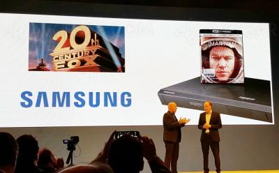 Forum Samsung 2016 : Samsung UBD-K7500 + UHD BD Seul sur Mars