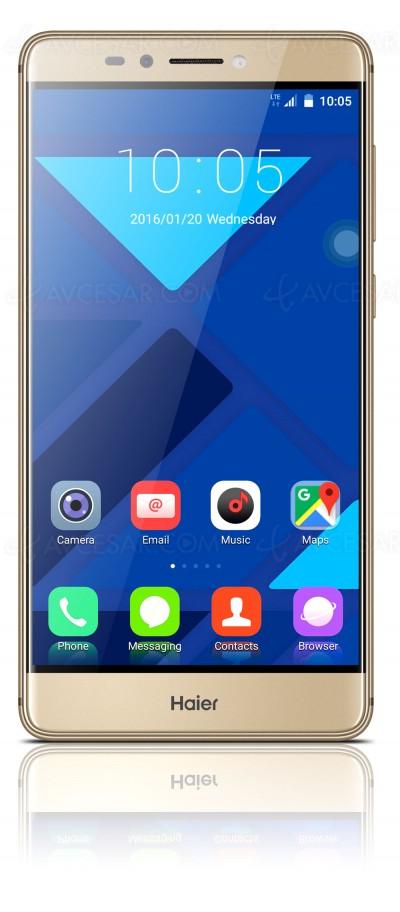 HaierPhone Voyage V6 : phablette 5.5'' + lecteur d'empreinte