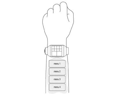 Samsung smartwatch projecteur intégré : et contrôle « holographique »