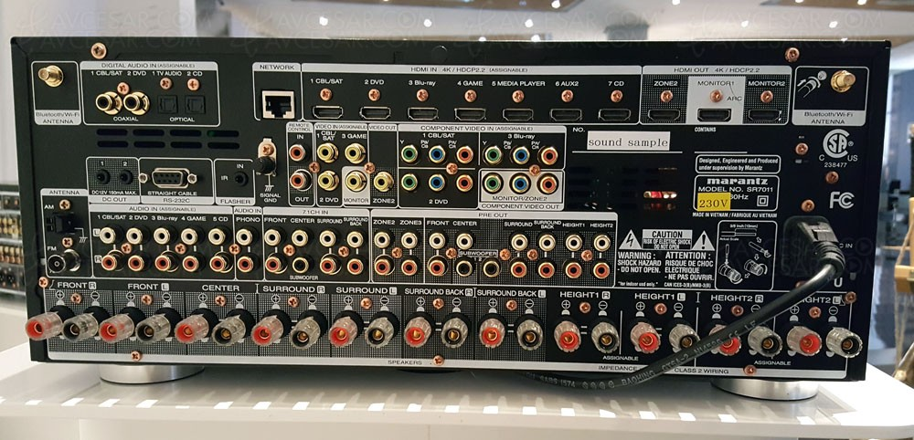Marantz Sr7011 9 2 Dolby Atmos 7 2 4 Dts X 11 2 Et Auro 3d