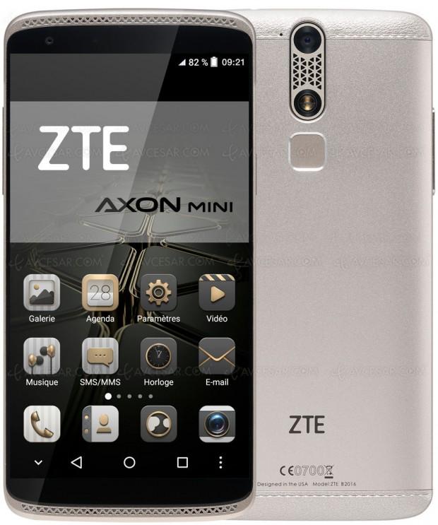ZTE Axon mini, smartphone 5,2'' avec écran ForceTouch