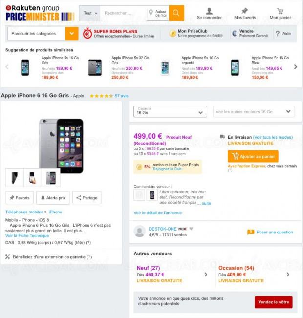 solde plan price minister iphone 6 16 go gris 461. Black Bedroom Furniture Sets. Home Design Ideas