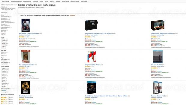 Soldes Amazon, Blu‑Ray/DVD et séries TV à ‑50% etplus