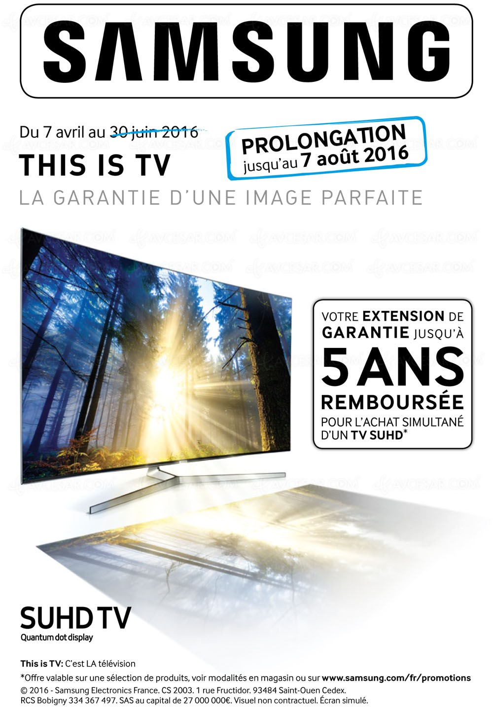 offre de remboursement samsung this is tv prolong e jusqu 39 au 7 ao t. Black Bedroom Furniture Sets. Home Design Ideas