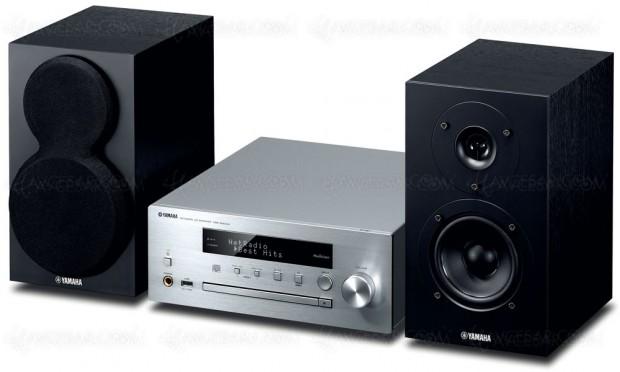 Yamaha MCR-N470D, mini-chaîne design et MusicCast