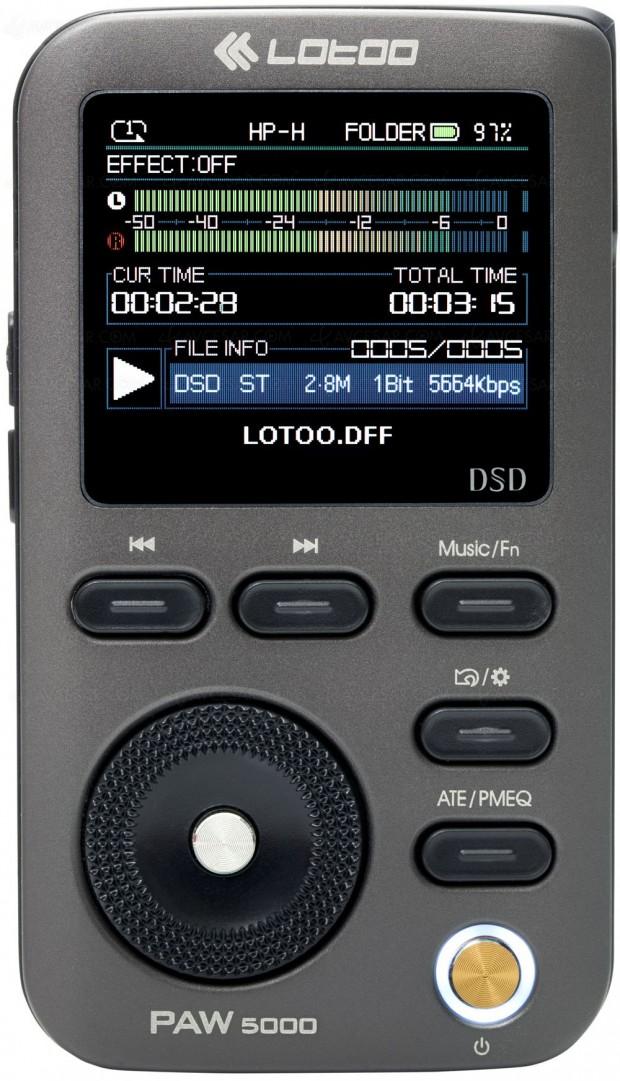 Lotoo Paw 5000, baladeur numérique Hi-Res Audio