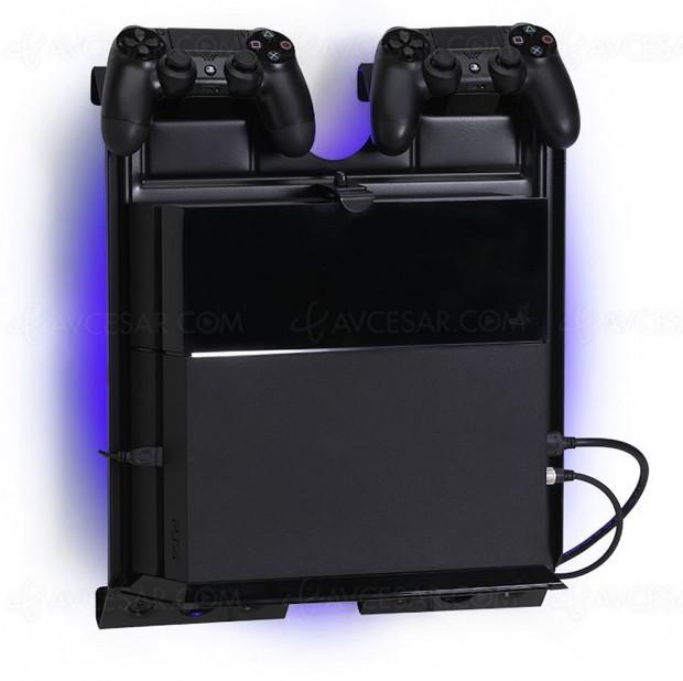 Support mural pour consoles de jeu gameside par e concept for Meuble xbox one