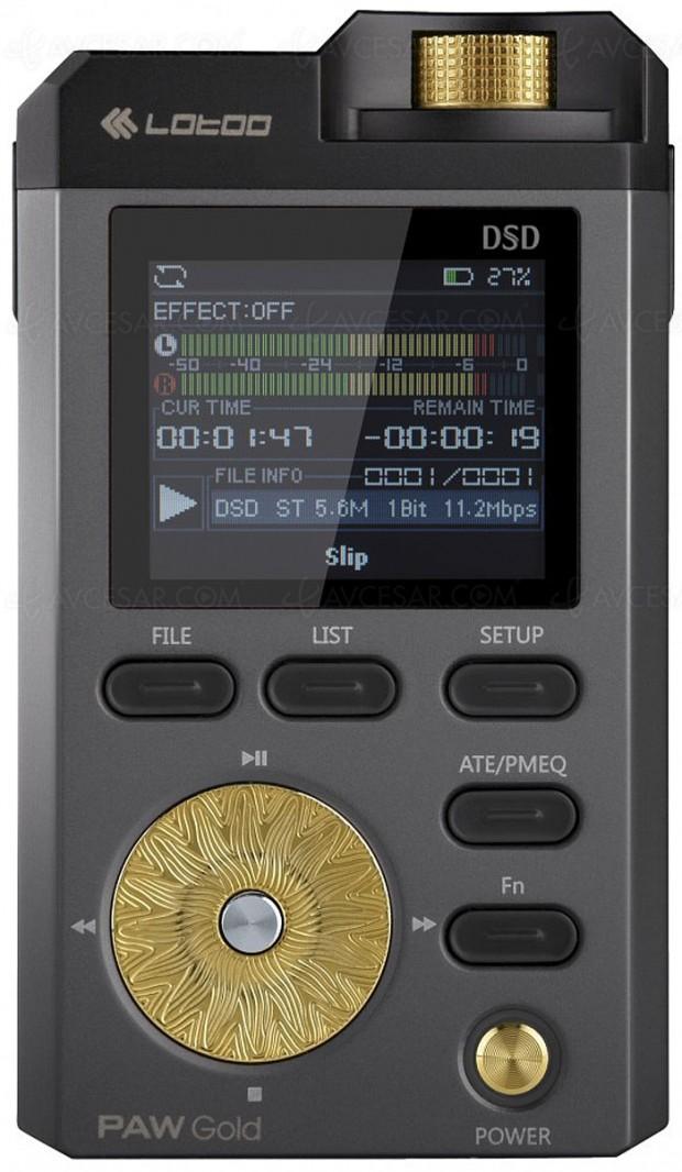Lotoo Paw Gold, baladeur numérique Hi-Res Audio
