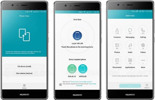 Transfert de données simplifié avec Huawei Phone Clone
