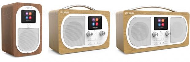 Nouvelles radios numériques terrestres Pure Evoke H3, H4 et H6