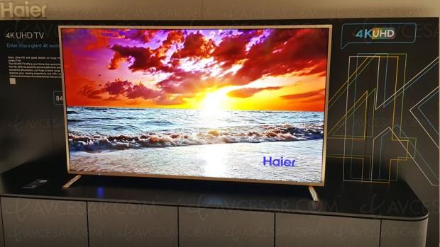 TV LED Ultra HD HaierH9000U, 75'' et 84'' aumenu