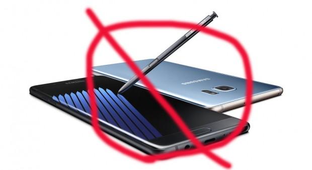 Galaxy Note 7 dans un avion américain =crimefédéral