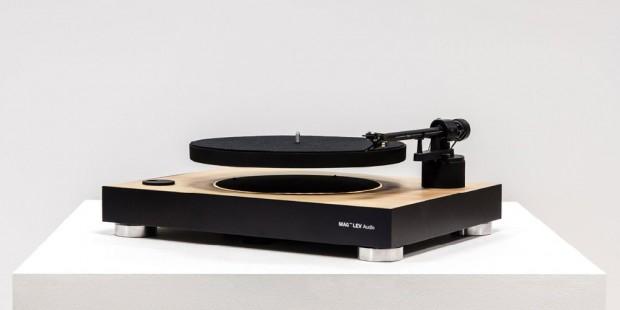 Tourne-disque flottant, objet vinyle nonidentifié