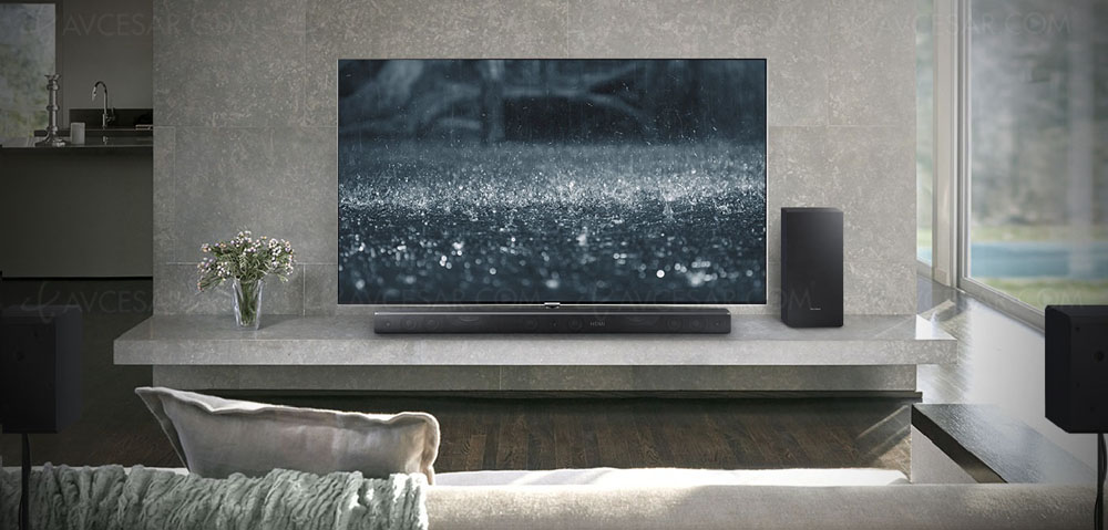 Samsung hw k850 barre de son dolby atmos 3 1 2 for Coprifili tv