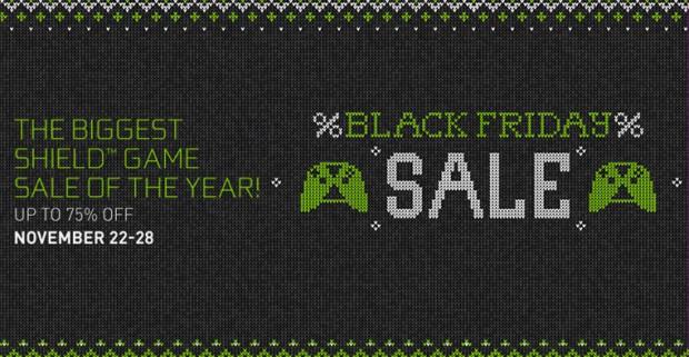 Black Friday en avance pour les jeux nVidiaShield