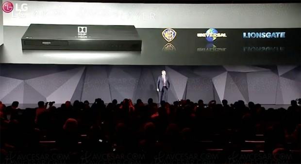 CES 17 > LG UP970, platine UltraHDBlu‑Ray certifiée DolbyVision