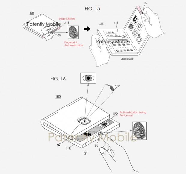 Smartphone pliable/enroulable Samsung, nouveauxbrevets