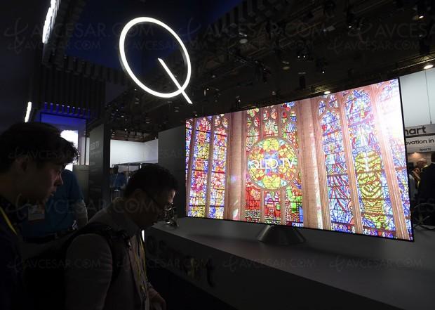 CES 17 > TV QLED Samsung Q7/Q8/Q9, énorme angle de vision