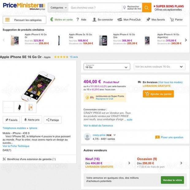 Soldes 2017, bons plans Apple iPhone sur Priceminister.com