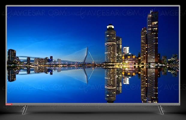 CES 17 > TV LED Ultra HD ChangHongE6000ISX2, quatrediagonales enapproche