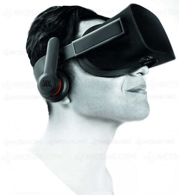 JBL OR300 et JBL OR100, écouteurs dédiés pour le casque de réalité virtuelle OculusRift