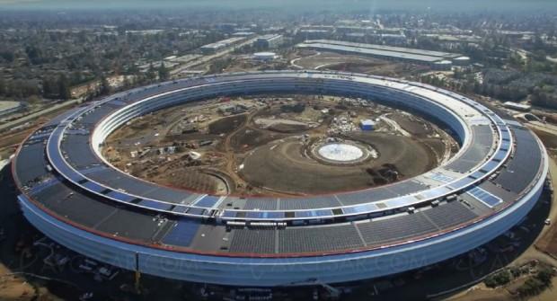 Apple Campus 2, avancement des travaux en février cours(vidéo)