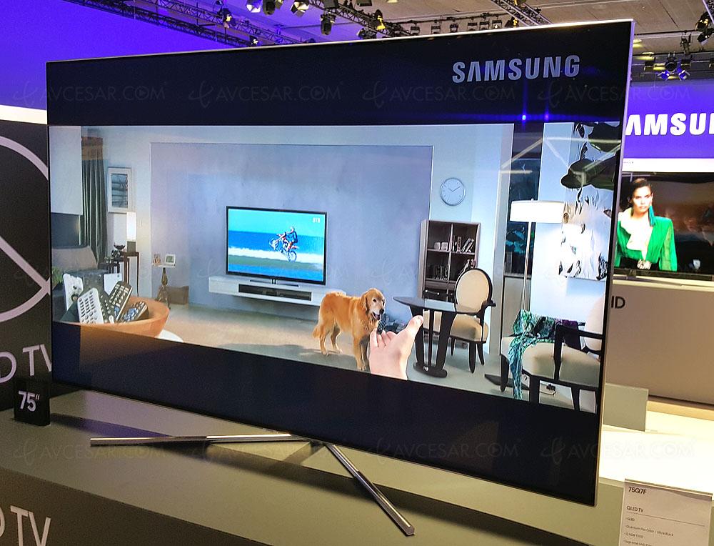 tv led ultra hd samsung q7f 49 55 65 75 plats au programme. Black Bedroom Furniture Sets. Home Design Ideas