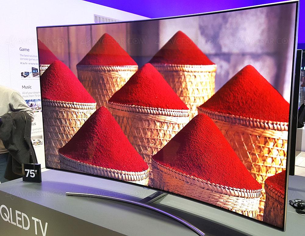 Tv led ultra hd samsung q8c 55 65 75 courbes en approche - Canalplay com multiecrans ...
