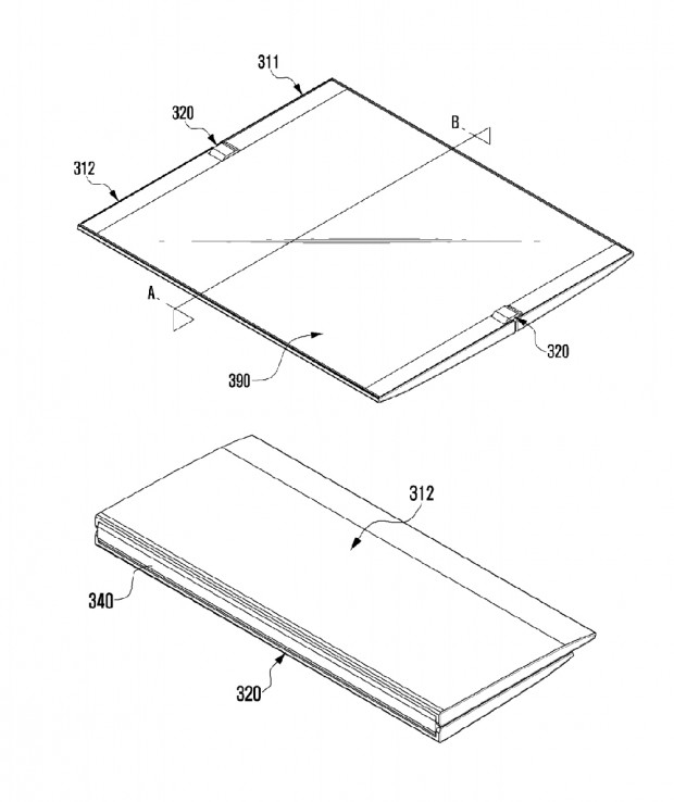 Smartphone pliable Samsung, encore unbrevet