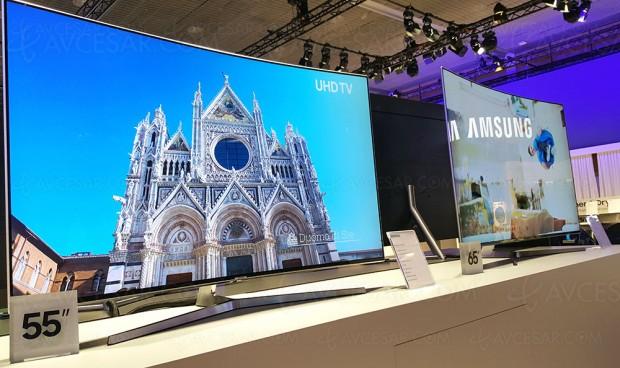 TV LED courbe Ultra HD Samsung MU9000, 49