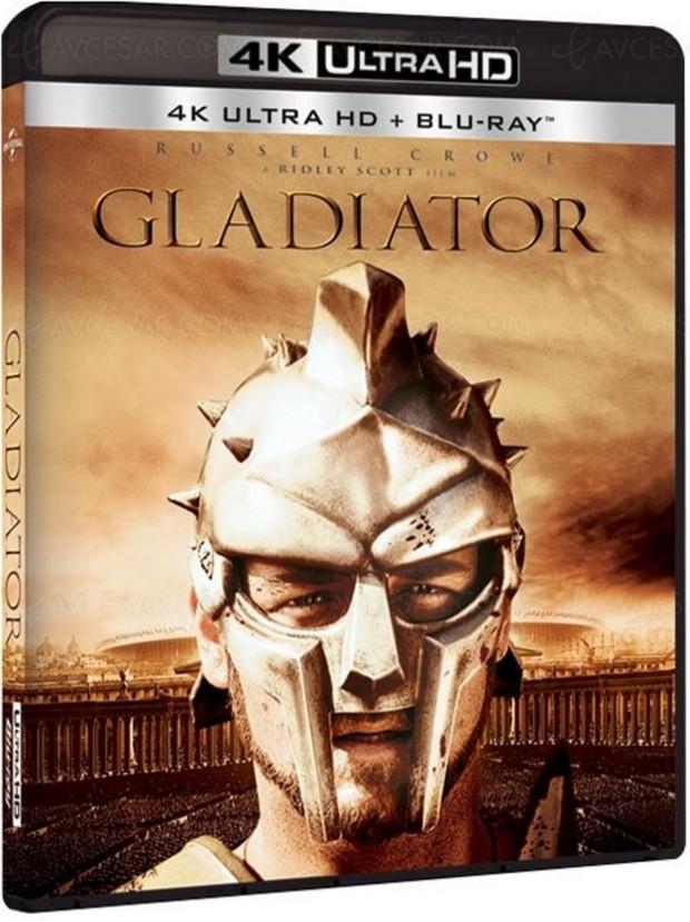Gladiator bientôt en Ultra HD Blu-Ray chez Universal?
