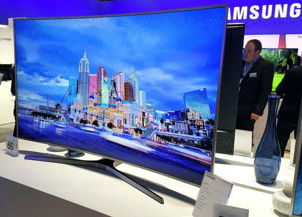 TV LED courbe Ultra HD Samsung MU6505, trois diagonales en approche