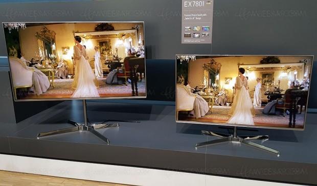 TV LED Ultra HD Panasonic EX780, quatre références au catalogue