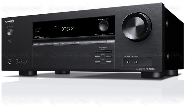 Onkyo TX-NR474, ampli 5.1, Dolby Atmos 3.1.2, HDMI 2.0a, HDCP 2.2, FireConnect…