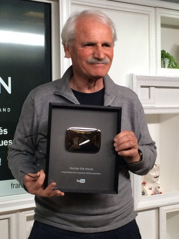 YouTube récompense Yann Arthus‑Bertrand