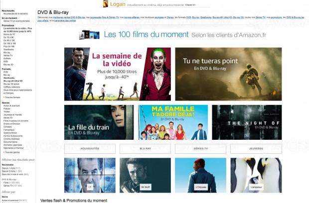 Amazon semaine de la vidéo, 10 000 BD/DVD à petote prix, jusqu'à-56%