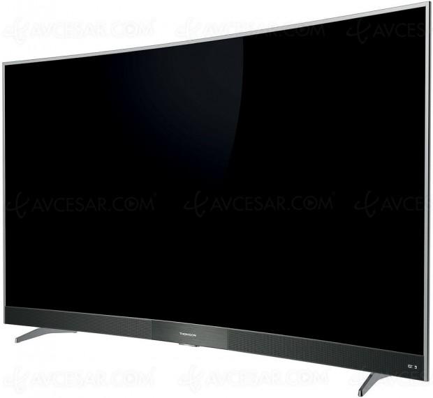 TV LCD UltraHD courbe ThomsonC6596, 55