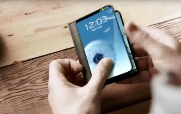 Smartphone Samsung pliable, dès cetautomne?
