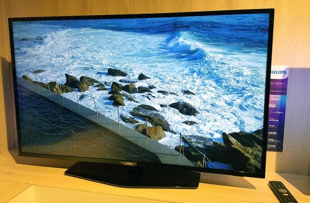TV LED Ultra HD Philips PUS6162 : 43'', 50'', 55'' annoncés