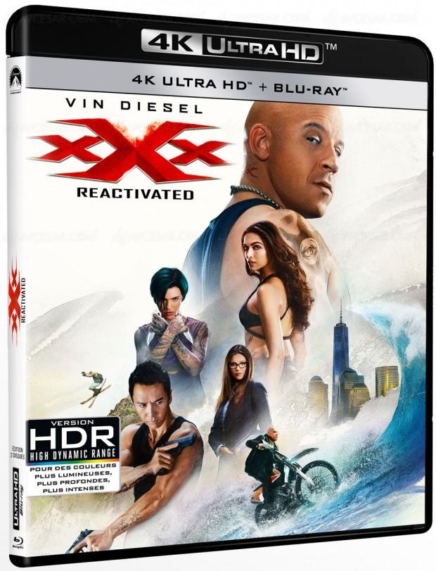 Vin Diesel en 4K Ultra HD Blu-Ray dans xXx Reactivated le 30mai