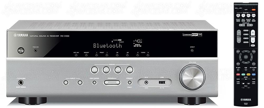 yamaha rx v483 ampli 5 2 musiccast bluetooth airplay. Black Bedroom Furniture Sets. Home Design Ideas