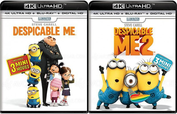 Ultra HD Blu-Ray Dolby Vision, deux filmsen prépa: Moi, moche et méchant1&2?