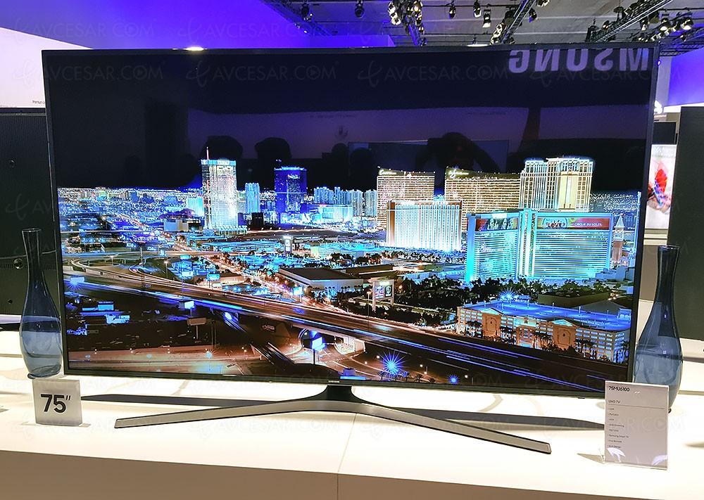 tv led ultra hd samsung mu6105 40 49 55 65 75 mise jour prix indicatif. Black Bedroom Furniture Sets. Home Design Ideas