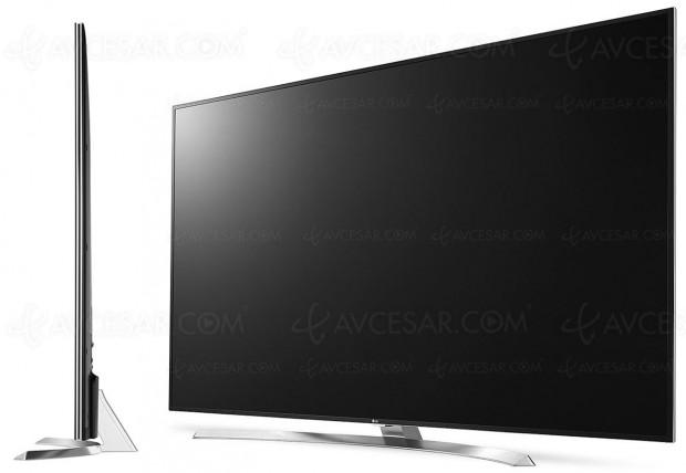 TV LED Ultra HD LG SJ955V, grand large en 75
