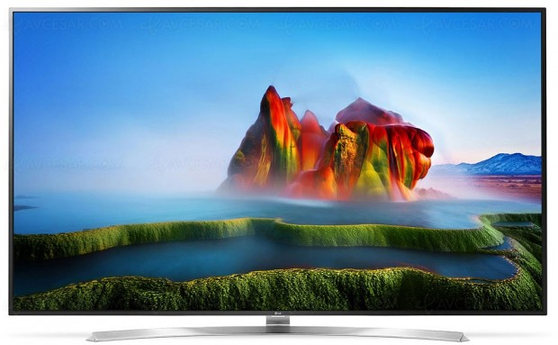 TV LED Ultra HD LG SJ955V, grand large en 75