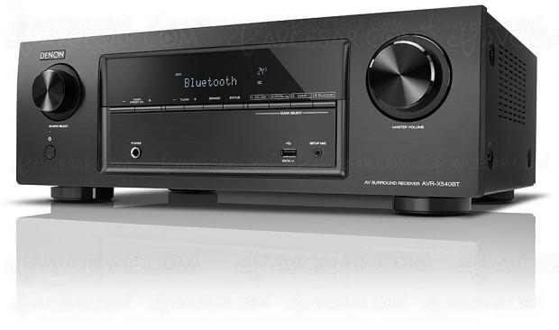 Denon AVR-X540BT, amplificateur 5.2 Bluetooth, HDMI 2.0a, HDR10, HDCP 2.2, BT.2020…