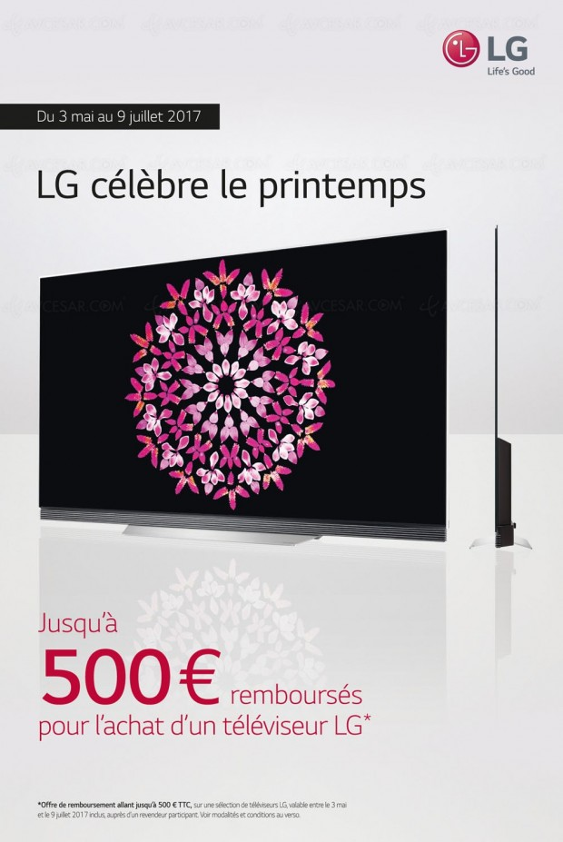 offre de remboursement tv led tv oled lg jusqu 39 500 rembours s. Black Bedroom Furniture Sets. Home Design Ideas