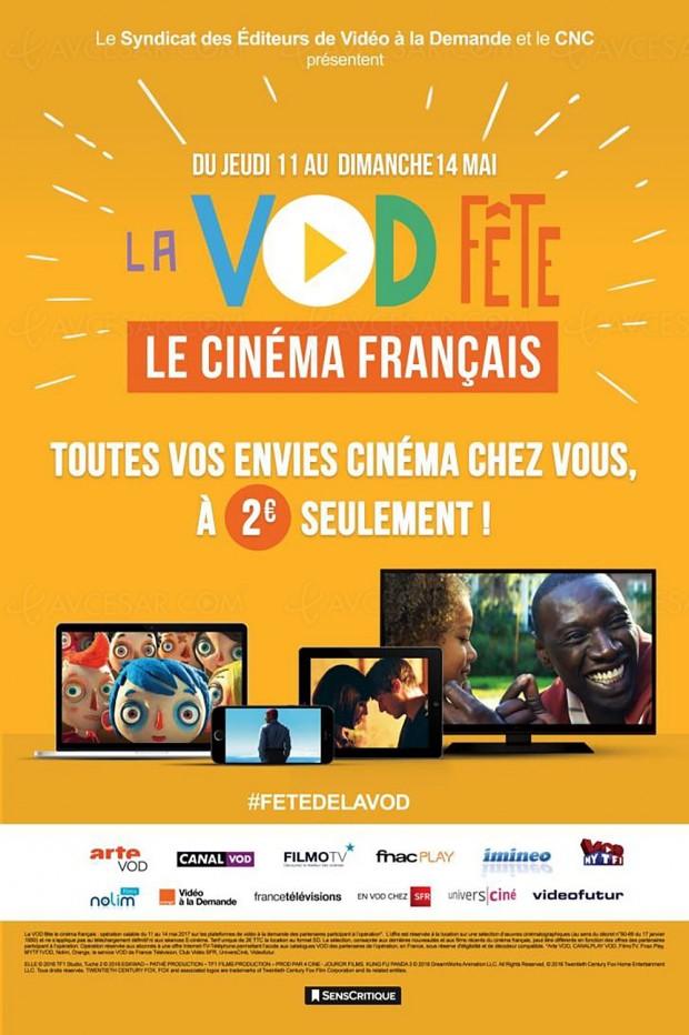Rappel, la VOD fête le cinéma français démarre aujourd'hui pour se prolonger jusqu'au 14 mai…