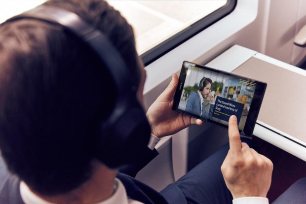 Menu audio Sony à bord de l'Eurostar