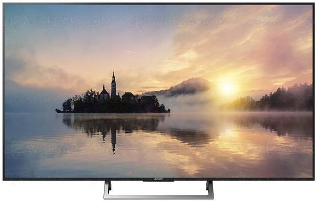 TV LED Ultra HD Sony XE7000/7003, 7004/7005 et 7077/7096, 4 diagonales annoncées